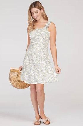 Tribal - Lemon Print Ruffle Strap Dress
