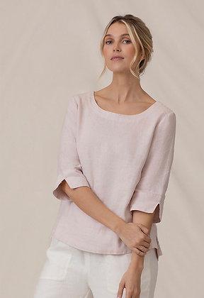 Sympli - Linen 3/4 Sleeve Top
