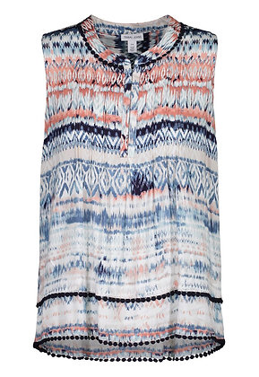 Tribal - Tuck Pleat Blouse