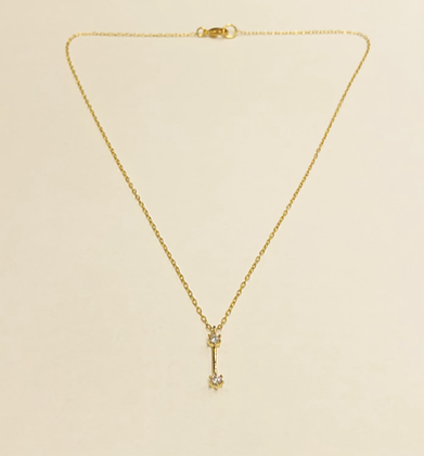 Bar and CZ Necklace