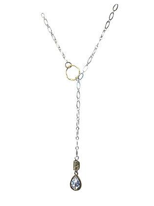 """A. Punto - Silver """"Y"""" Necklace with Preciosa Crystal"""