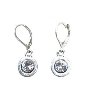 A. Punto - Silver Earrings with Preciosa Crystal