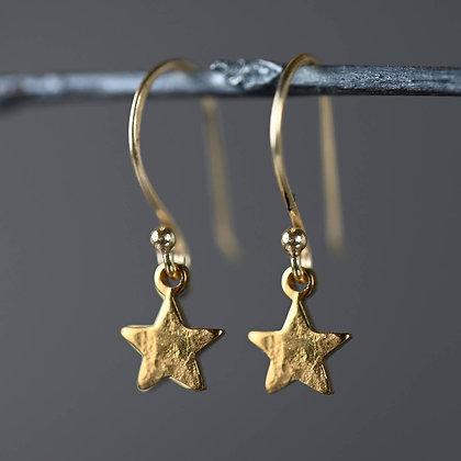 KBD - Petite Hammered Star Earrings