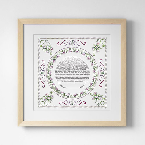 Spring Bloom Embroidered Ketubah