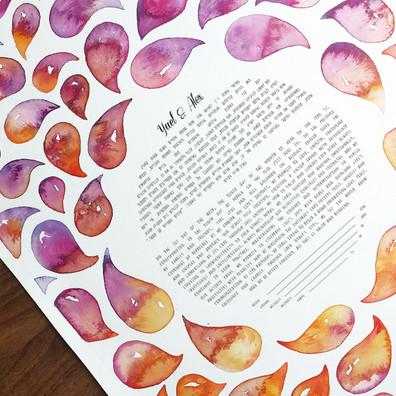 Orange & Pink Watercolor Drops