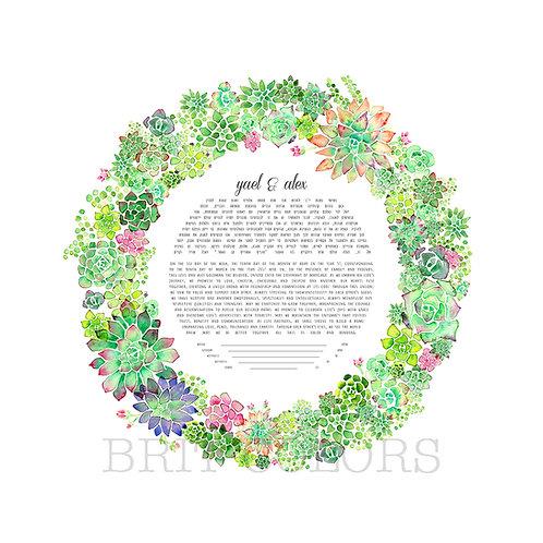 Succulent Wreath Ketubah