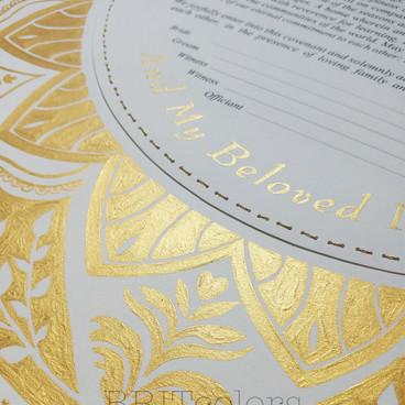 """Golden Mandala"" Ketubah"