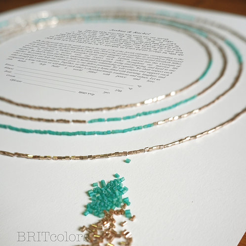 Multi-color Delphi Beaded Ketubah