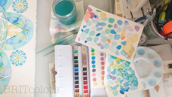 Watercolor studio - BRITcolors
