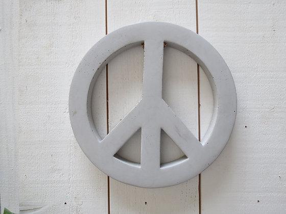 peace and love en béton bbync gris clair