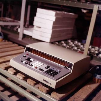 "In IME 86S electronic desktop calculator on the ""break-in bench."""