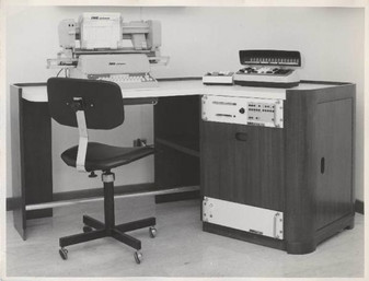IME modular system microcomputer IME Mobile trolly system consisting of the IME 86S, IME KB6 and IME DG 308 RM. Photo taken in 1967