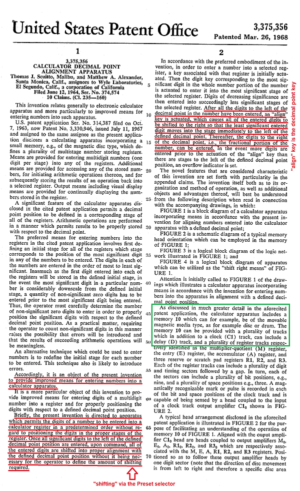 Wyle June 12 1964 Patent - No Preset Nee
