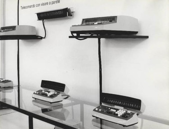 IME 84 system of electronic calculators exhibited at the 2nd SMAU at (1965 Office Equipment Machine Exibition) at the Milan Fair (9/24/1965)