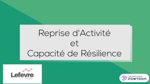 Reprise d'activité et Capacité de Résilience de votre entreprise.