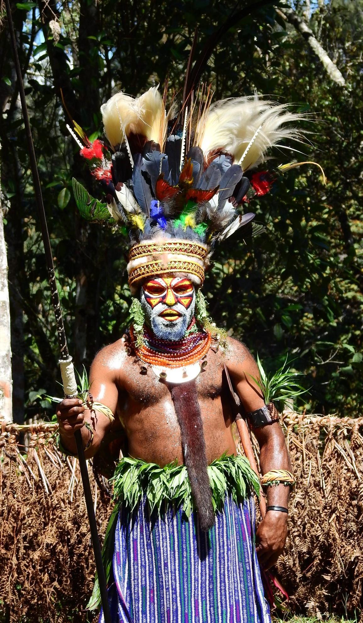 PNG chief full costume.Debbie