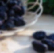 pruneaux, prune d'Ente, crème, jus et pulpe de pruneau