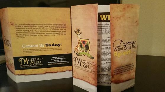 Atlanta brochure & logo design custom graphics mustard seed academy .png