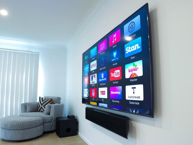 Yamaha Soundbar and Sony TV