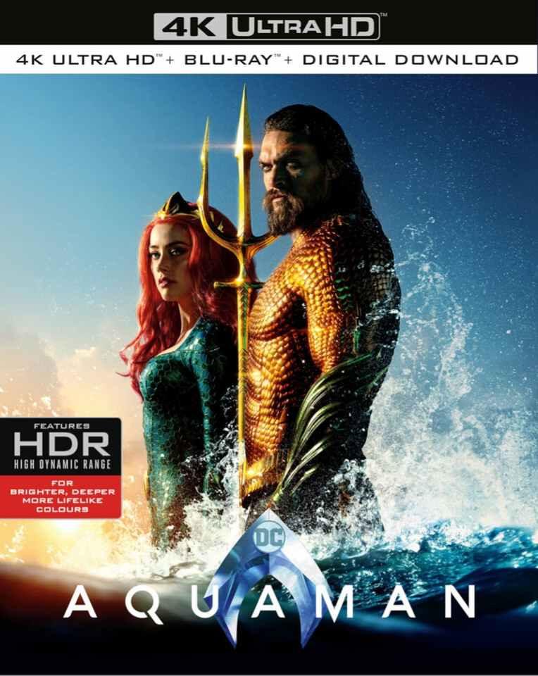 Aquaman 4K ultra HD blu-ray