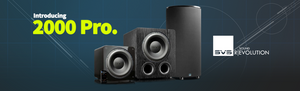 SVS Pro Series subwoofers front in a group