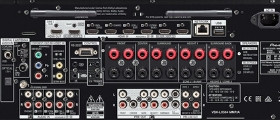 Rear inputs and outputs of Pioneer VSX-LX504 receiver