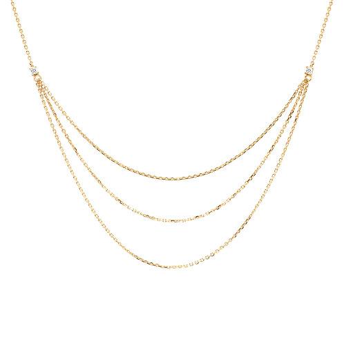 PdiPaola - Collana dorata Nia argento 925 CO01-140-U