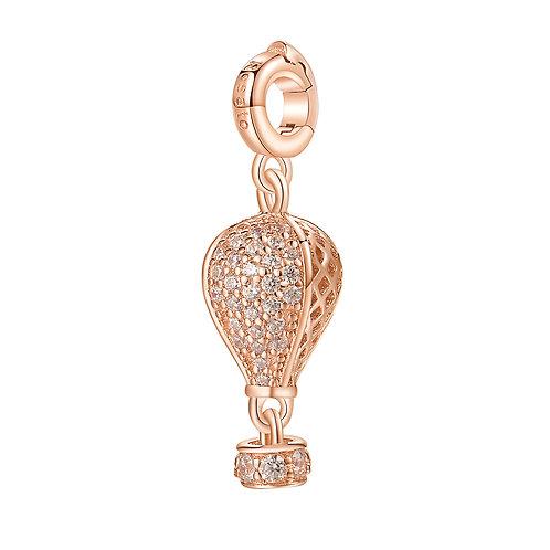 Rosato - Mongolfiera Charm in argento 925‰, galvanica oro rosa RZ028