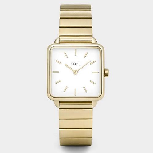 Cluse - La Tétragone Steel White, Gold Colour - CL60023s