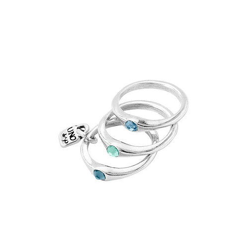 Uno de 50 - Anello donna  Happy Blue ANI0678AZUMTL15