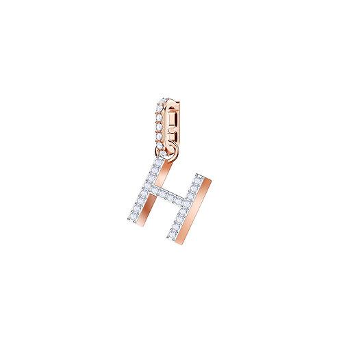 Swarovski – REMIX COLLECTION CHARM H, BIANCO, PLACCATO ORO ROSA 5437622