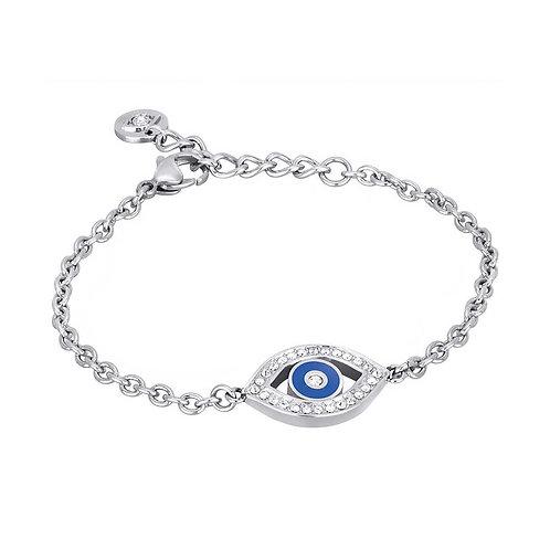 2Jewels - Bracciale acciaio 316L occhio blu protezione 231511