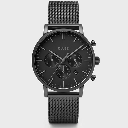 Cluse - Aravis Chrono Mesh Full Black - CW0101502007