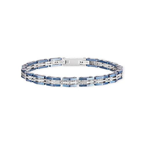 2Jewels - Bracciale uomo in acciaio 316L blu 232083