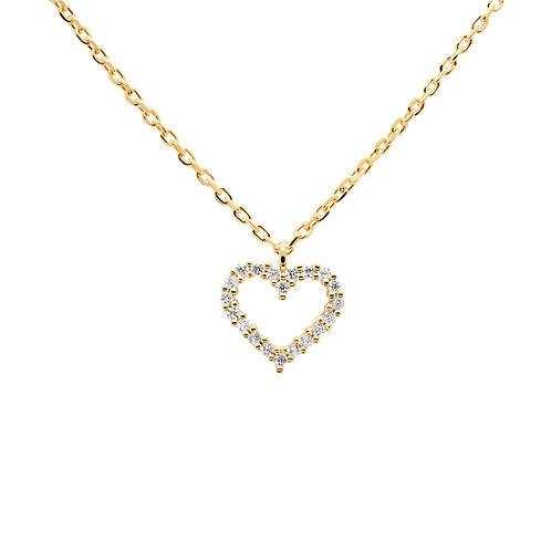 PdiPaola - Collana dorata White Heart argento 925 CO01-220-U