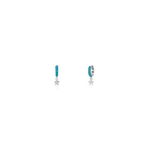 Mabina - ORECCHINI CON SMALTO TURCHESE E STELLA 563328
