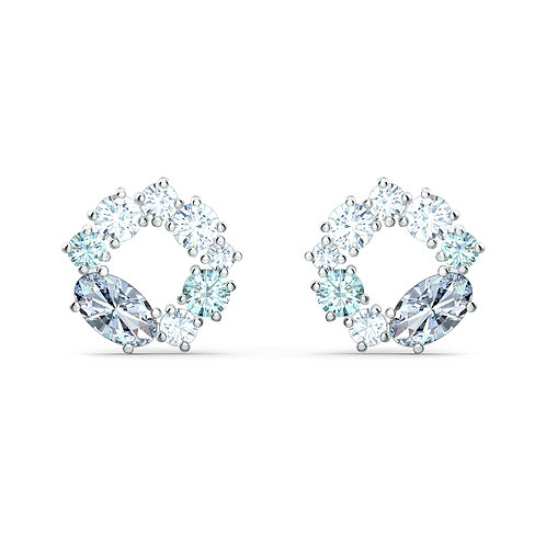 Swarovski - ORECCHINI STUD ATTRACT CIRCLE, PLACCATO RODIO 5570943