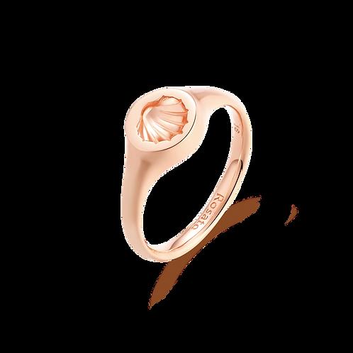 Anello in Argento 925‰, galvanica oro rosa RZA006B misura 14
