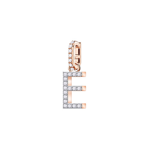 Swarovski – REMIX COLLECTION CHARM E, BIANCO, PLACCATO ORO ROSA 5437621