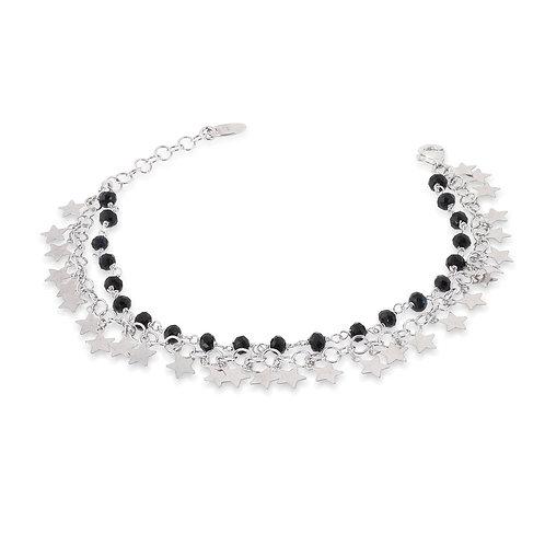 Unoaerre - Bracciale da donna in argento, stelle e onice 700YHH0964110