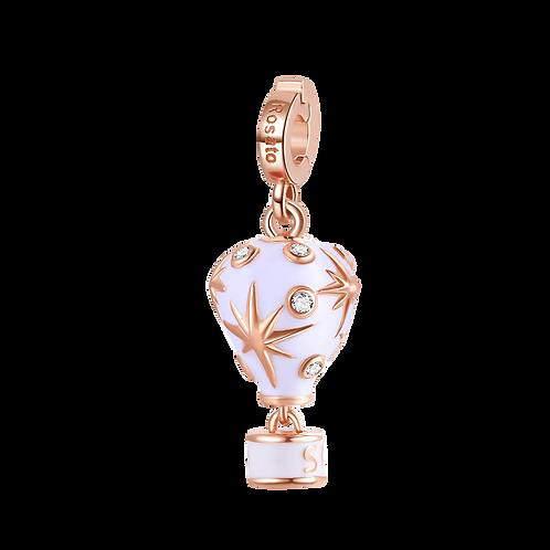 Rosato - Mongolfiera Aria Charm in argento 925‰, placcatura oro rosa RZLE030