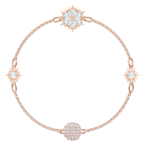 Swarovski - REMIX COLLECTION SNOWFLAKE STRAND, BIANCO, PLACCATO ORO ROSA 5512377