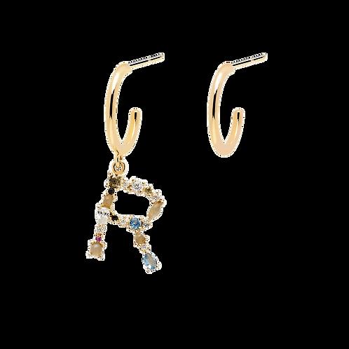 PDPaola - Orecchini Lettera R argento 925 AR01-268-U