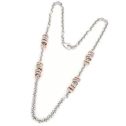 Unoaerre - Collana in argento dorato rosa e bianco 700YHW2583072