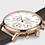 Thumbnail: Cluse - Aravis Chrono Leather Brown, Rose Gold Colour - CW0101502002