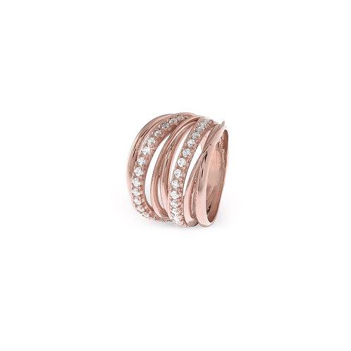 Unoaerre - Anello donna in argento dorato rosa 700YAF1971000 misura 14