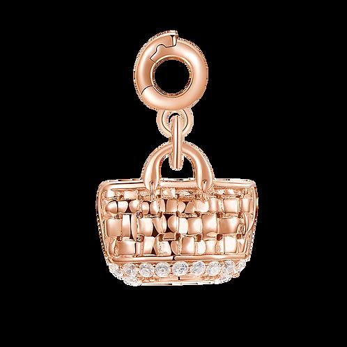 Rosato - Borsa Mare Charm in argento 925‰, galvanica oro rosa RZ030