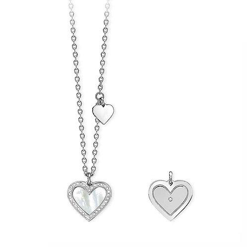 2Jewels - Girocollo donna in acciaio 316L cuore madreperla 251594