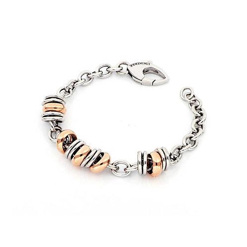 Unoaerre - Bracciale in argento dorato rosa e bianco 700YHW2583070