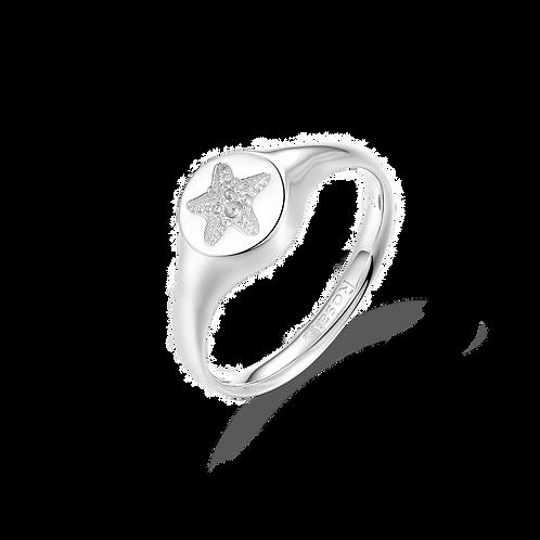 Rosato - Anello in Argento 925‰, galvanica oro rosa RZA005B misura 14